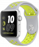 Apple Watch Nike+ 38mm Silver Aluminum Case with Flat Silver/Volt Nike Sport Band