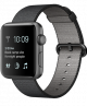 Apple Watch Series 2 38mm Space Gray Aluminum Case with Black Woven Nylon