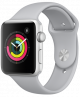 Apple Watch Series 3 42mm Silver Aluminum Case with Fog Sport Band MQL02