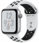 Apple Watch Series 4 GPS 44mm Silver Aluminum Case with Black Nike Sport Band MU6K2