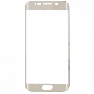 Стекло защитное для Samsung Galaxy S6 Edge G925F Ainy Full Screen Cover (3D) 0,2mm золотое